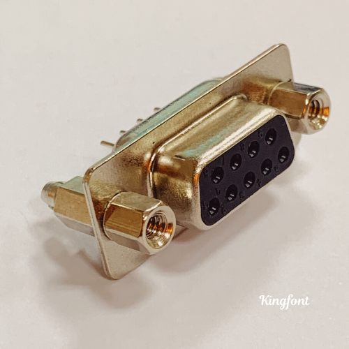 D-SUB Connector, Pitch 2.77mm, DIP, straight, hole size Ø3.2mm, with Riveted Boardlock & Fixed Hex Screw