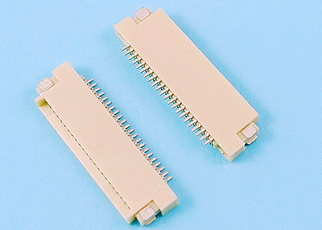 FPC 0.5mm H:1.5 NON-ZIF SMT  R/A  Dual Contact Type Connector