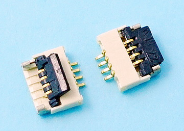 FPC 0.5mm H:1.0 Cover Lift  SMT R/A Lower Type Connector