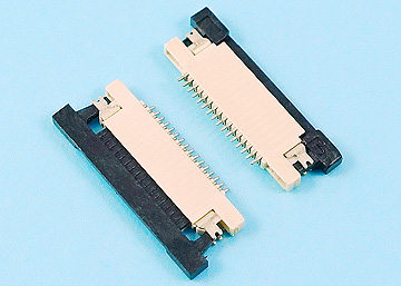 FPC 0.5mm H:1.2 Push-Pull SMT R/A Bottom Contact Type Connector