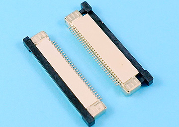 FPC 0.5mm H:2.0 Push-Pull SMT R/A Bottom Type Connector