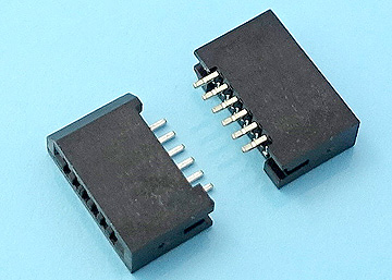 FPC 1.0mm H:2.8 NON-ZIF SMT R/A Dual Contact Type Connector