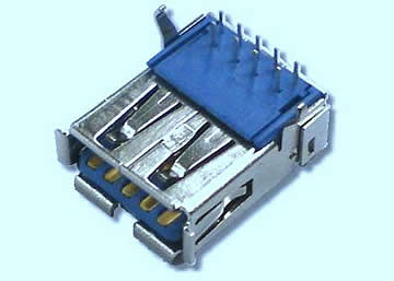 USB 3.0 A Type 9Pin Female Board Side DIP 90°
