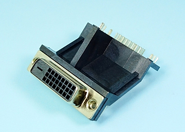 DVI-D Connector Right Angle  DIP 24P  Socket (H:30.31mm)
