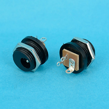 3387-3PAVE / 3387-3PBVE - DC Power JACK 3PIN 2.0mm AND 2.5mm  WITH NUT VERTICAL TYPE - Leamax Enterprise Co., Ltd.