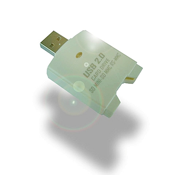 USB 2.0  SD 2.0/MINI-SD/MMC  Plus/RS-MMC  Mobile  Card  Drive