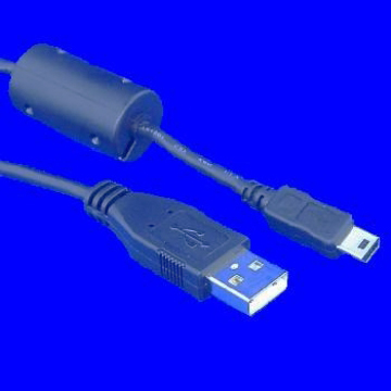 USB AM TO MINI USB 5P, WITH CORE