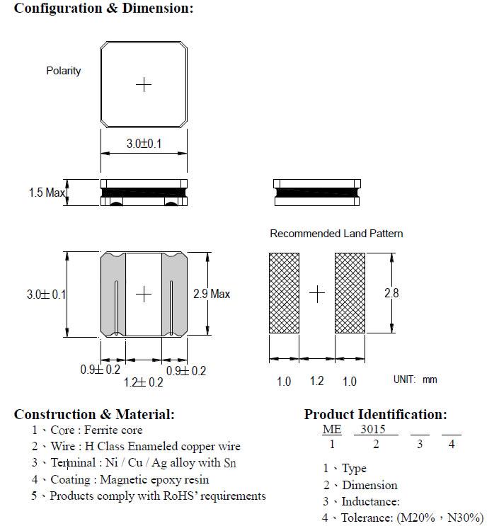 ME3015 SERIES - Clider Enterprise Co Ltd - Air coils, Common Mode ...
